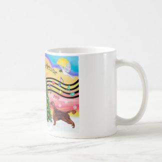 クリスマス音楽2 -アイリッシュセッター コーヒーマグカップ