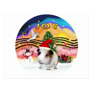 クリスマス音楽-ギニーPig1 (帽子) ポストカード