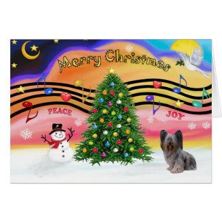 クリスマス音楽- Skyeテリア2 グリーティングカード