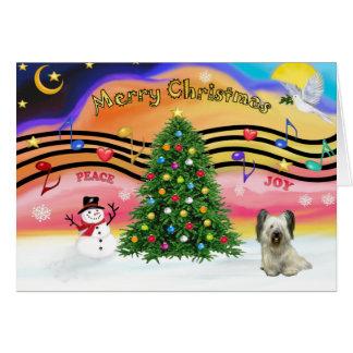 クリスマス音楽- Skyeテリア(Lt) グリーティングカード