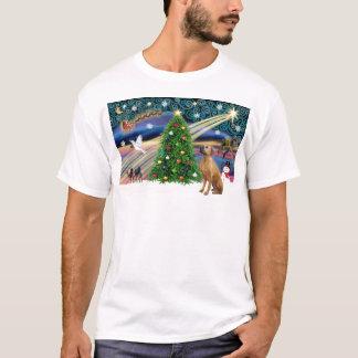 クリスマス魔法のRhodesian Ridgeback 1 Tシャツ