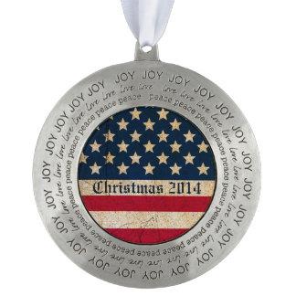 クリスマス2014米国の旗の平和愛喜びのオーナメント オーナメント