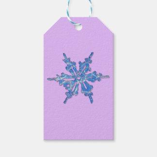 クリスマス3のための冬の雪片のデザイン ギフトタグ