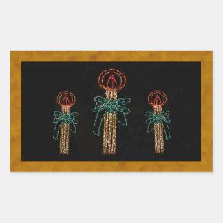 クリスマス3本の蝋燭2016年 長方形シール