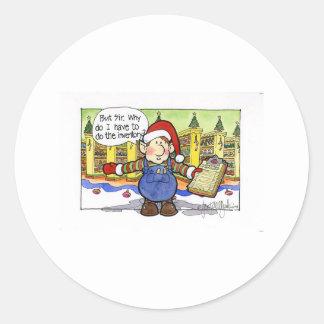 """クリスマス""""しかし""""漫画第9 ラウンドシール"""