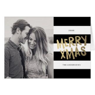 クリスマス|の休日の写真の挨拶状 グリーティングカード