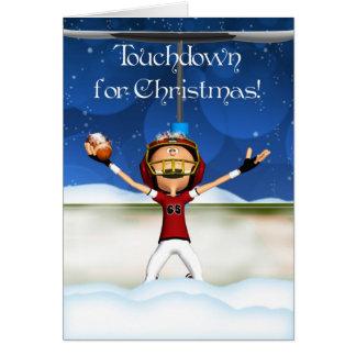 クリスマス-アメリカン・フットボールのための接地 カード