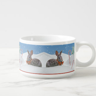 クリスマス、ウサギ、雪、キャンディ・ケーン チリボウル