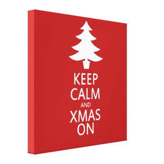 クリスマス キャンバスプリント