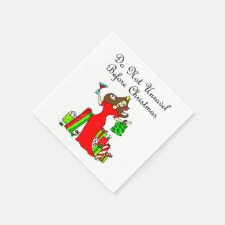 クリスマス-クリスマスの女王の前に解かないで下さい スタンダードカクテルナプキン