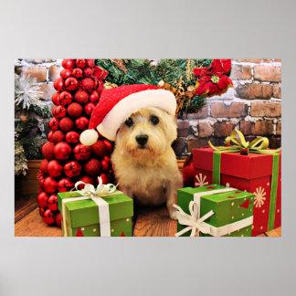 クリスマス-ケアーン・テリア- Roxy ポスター