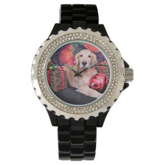 クリスマス-ゴールデン・リトリーバー-空 腕時計