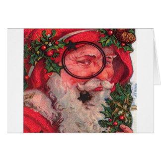 クリスマス サンタ - カスタマイズ可能 グリーティングカード