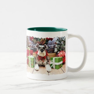 クリスマス-シュナウツァー-ペチュニア ツートーンマグカップ