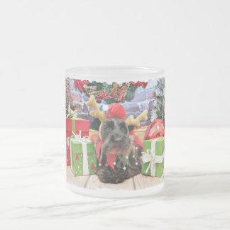 クリスマス-シュナウツァー- Sadie フロストグラスマグカップ