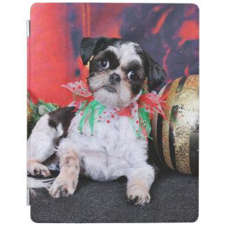 クリスマス-シーズー(犬) Tzu - Chin Ching iPadスマートカバー