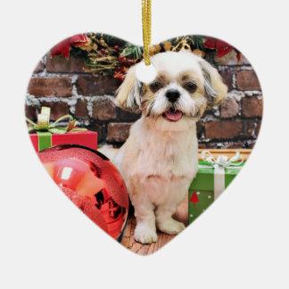クリスマス-シーズー(犬) Tzu - Marley セラミックオーナメント
