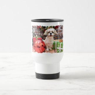 クリスマス-シーズー(犬) Tzu - Marley トラベルマグ