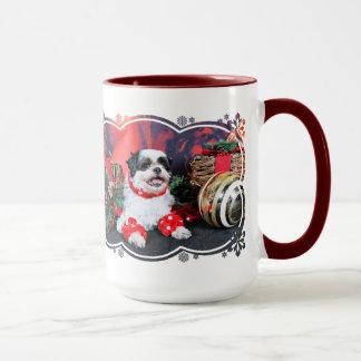 クリスマス-シーズー(犬) Tzu - Mishka マグカップ