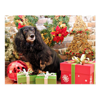 クリスマス-ダックスフント- Zoey ポストカード