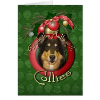 クリスマス-デッキホール-コリー-キャロライン カード