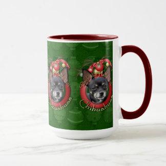 クリスマス-デッキホール-チワワ-イザベラ マグカップ
