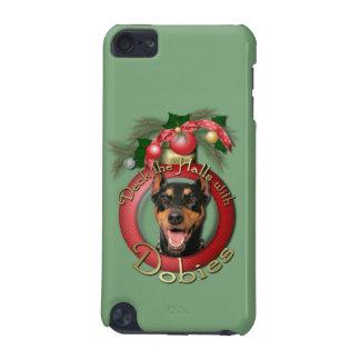 クリスマス-デッキホール-ドーベルマン(犬) - Megyan iPod Touch 5G ケース