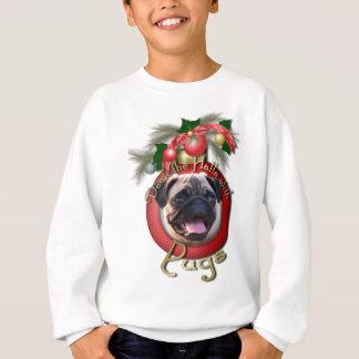 クリスマス-デッキホール-パグ スウェットシャツ