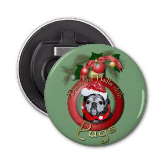 クリスマス-デッキホール-パグ-天使 栓抜き