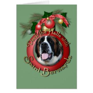 クリスマス-デッキホール-聖者Bernards - Mae カード