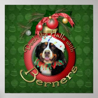 クリスマス-デッキホール- Berners ポスター