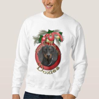 クリスマス-デッキホール- Doxies - Winston スウェットシャツ