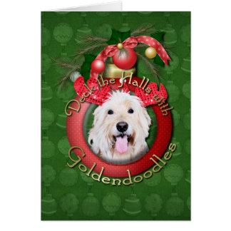 クリスマス-デッキホール- GoldenDoodles -デイジー カード