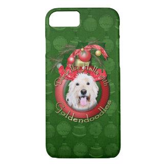 クリスマス-デッキホール- GoldenDoodles -デイジー iPhone 8/7ケース