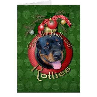 クリスマス-デッキホール- Rotties -ハーレー カード