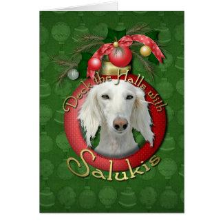 クリスマス-デッキホール- Salukis カード