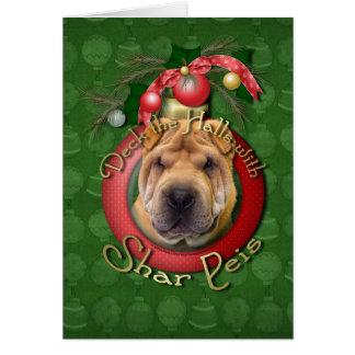 クリスマス-デッキホール- Shar Peis カード