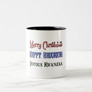 クリスマス-ハヌカー- Kwanzaa ツートーンマグカップ