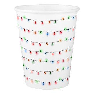 クリスマス・パーティのコップ、小さいひもライト 紙コップ