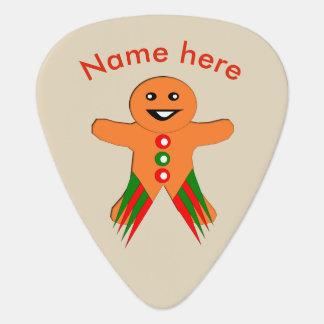 クリスマス・パーティのジンジャーブレッドマンのギターピック ギターピック
