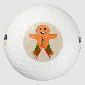 クリスマス・パーティのジンジャーブレッドマンのゴルフ・ボール ゴルフボール