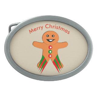 クリスマス・パーティのジンジャーブレッドマンのベルトの留め金 卵形バックル