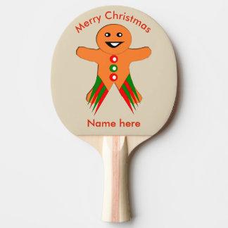 クリスマス・パーティのジンジャーブレッドマンの卓球ラケット 卓球ラケット