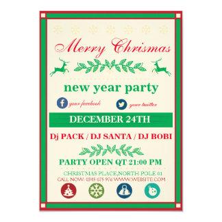 クリスマス・パーティのテンプレート カード
