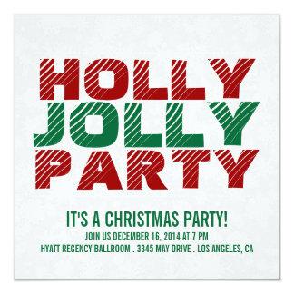 クリスマス・パーティの招待|のヒイラギのすてきなパーティー カード