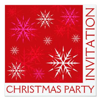 クリスマス・パーティの雪片の招待状カード カード