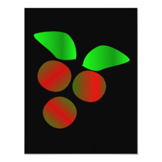 クリスマス|ヒイラギ 10.8 X 14 インビテーションカード