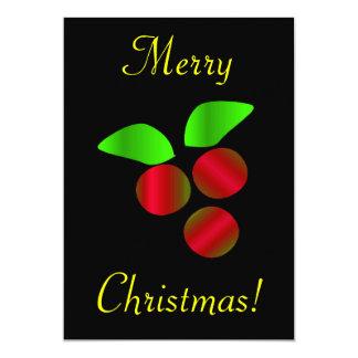 クリスマス|ヒイラギ 12.7 X 17.8 インビテーションカード