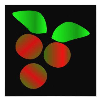 クリスマス|ヒイラギ 13.3 スクエアインビテーションカード