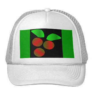 クリスマス ヒイラギ I 白い トラッカー帽子